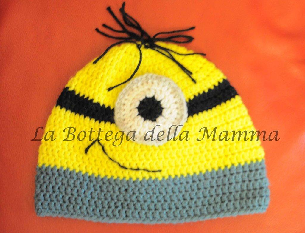 Cappello Minion fatto a mano taglia adulto