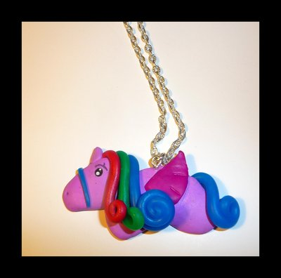 COLLANA FIMO UNICORNO LITTLE PONY OTTIMA IDEA REGALO BAMBINA