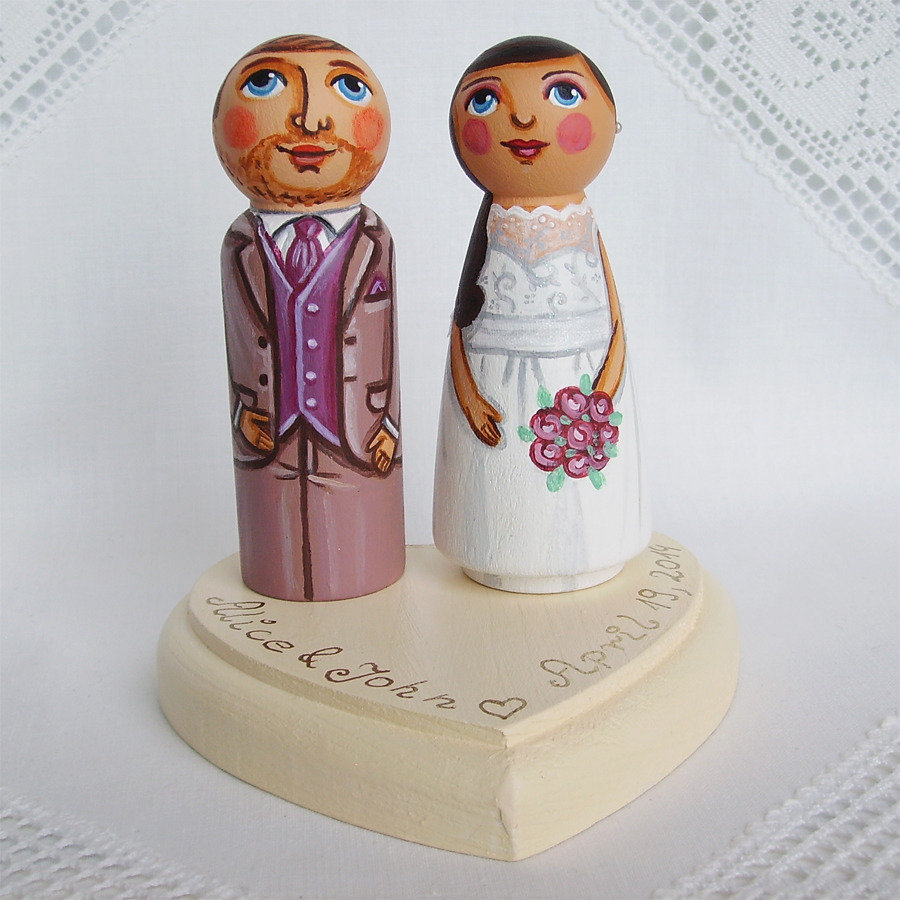 Sposini torta nuziale top cake topper in base