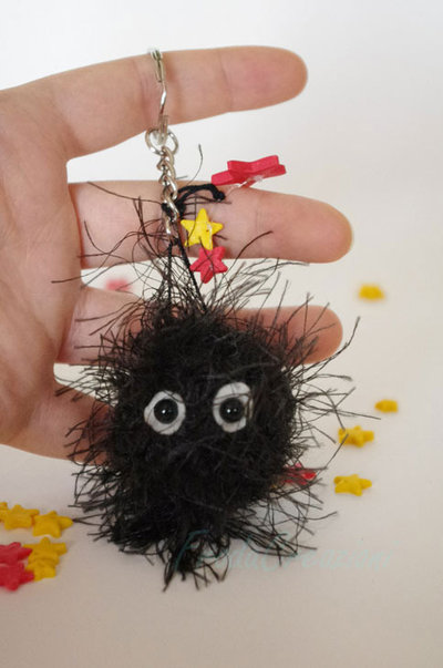 Nerini del buio - Soot Sprites - Makkurokurosuke - Susuwatari - Totoro - Tonari no Totori - Amigurumi