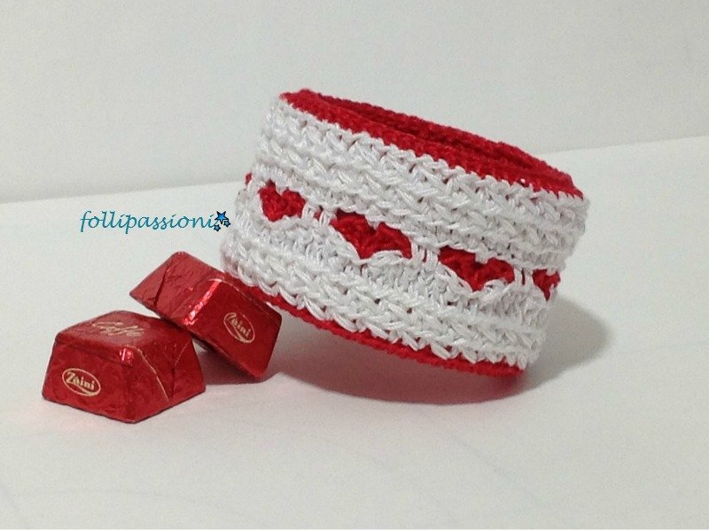 "Pattern Pdf bilingue "" Bangle Heart"""