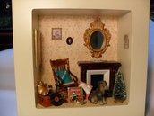 roombox con caminetto