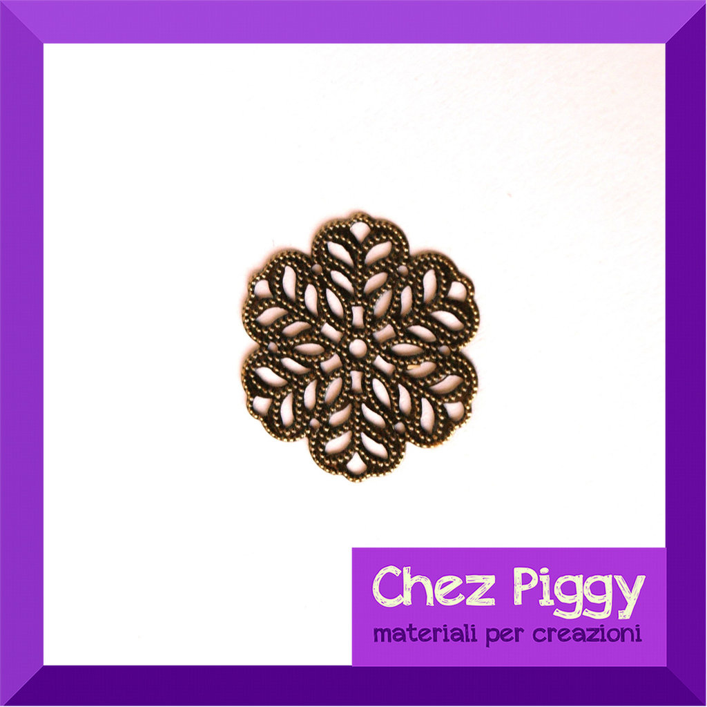 2 x filigrane a forma di fiore - bronzo