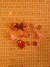 Ciondoli dolcetti misti - lotto fimo charms bracciali collane orecchini