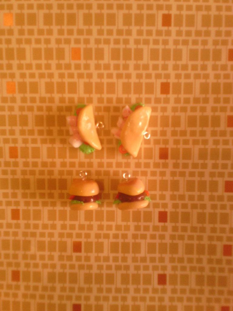 Charms fimo panini - ciondoli bracciali orecchini portachiavi