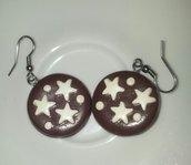 orecchini in fimo pan di stelle