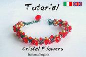 Tutorial Bracelet Crystal Flowers ( Download digitale istantaneo:2 Files incluso)