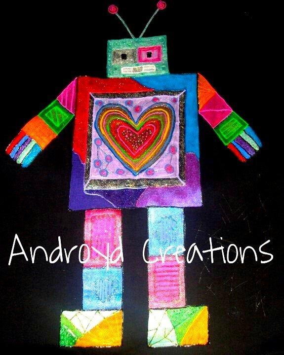 t-shirt fatta a mano robot
