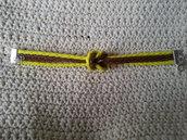 Braccialetto nodo giallo/marrone