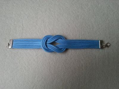 Braccialetto nodo azzurro