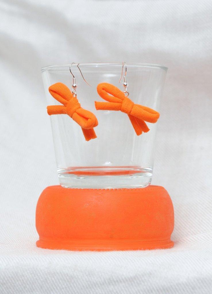 Orecchini Arancio a Fiocco