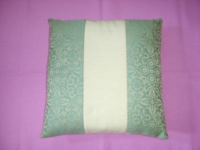 cuscino patchwork verde e giallo
