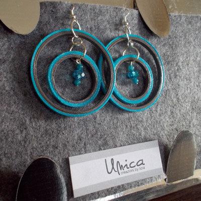 orecchini cerchio celesti