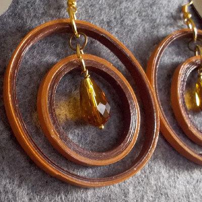 orecchini cerchio marroni