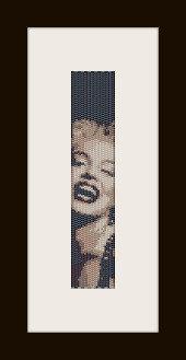schema bracciale Marilyn Monroe 5 in stitch peyote ( 2 drop ) pattern - solo per uso personale