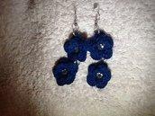 Orecchini Blue Rose