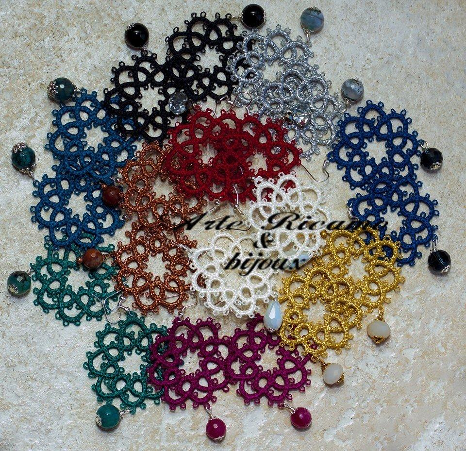 Orecchini mod.Chiacchierino con pendenti by Arte Ricamo & Bijoux