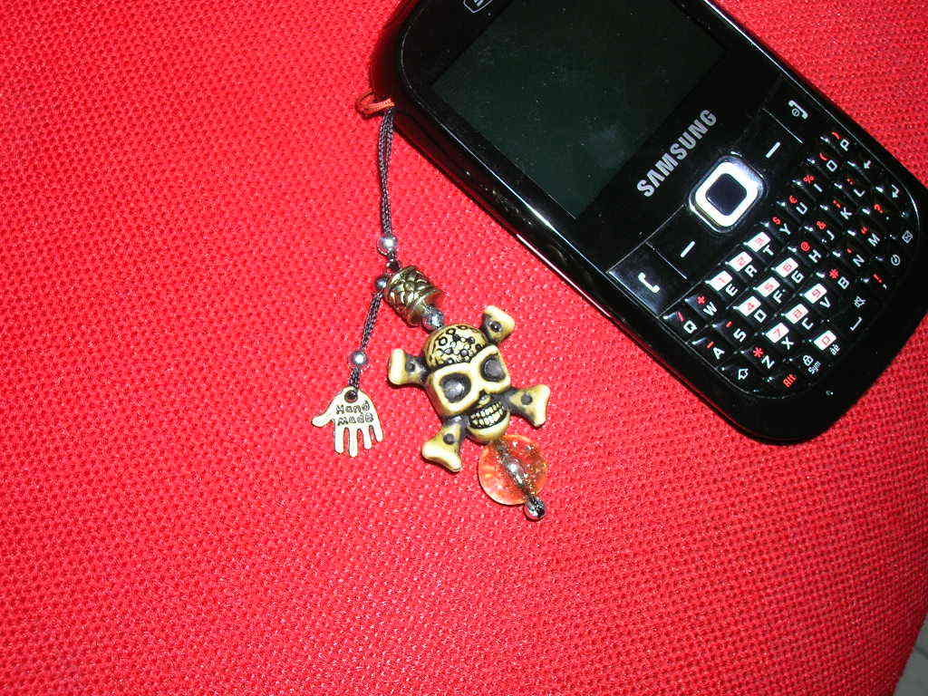 Phonestrap teschio giallo