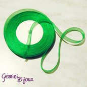 Lotto 1 mt. nastro organza 10mm verde