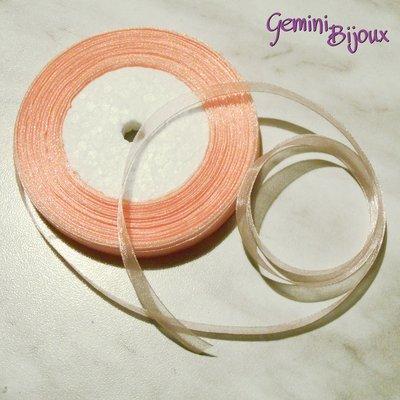 Lotto 1 mt. nastro organza 10mm rosa salmone