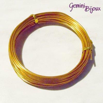 Rotolo filo di alluminio wire 2 mm gold