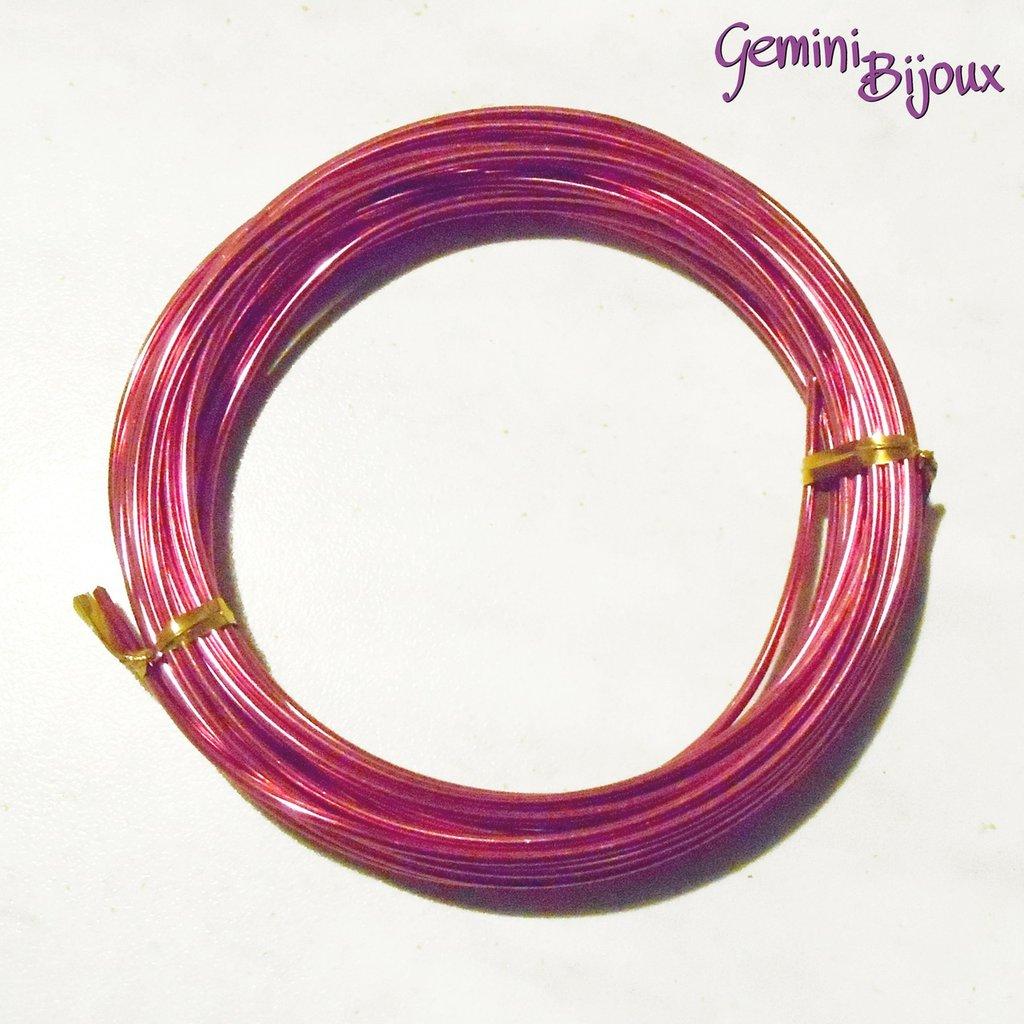 Rotolo filo di alluminio wire 2 mm cerise