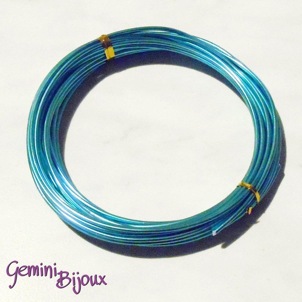 Rotolo filo di alluminio wire 2 mm skyblue
