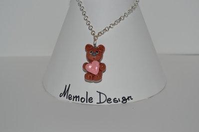 collana con orsetto Memole design