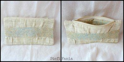 Astuccio-Pochette handmade in cotone stampato