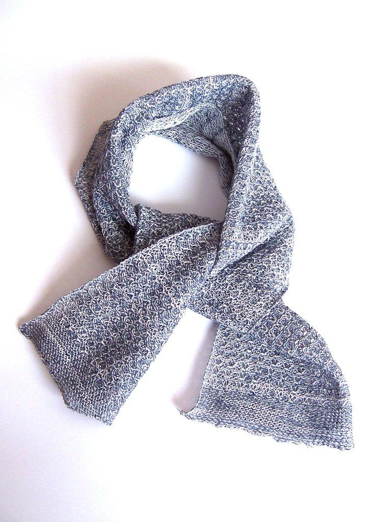 """Sciarpina """"Primavera"""" in lino e cotone a maglia (art.47)"""