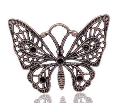 Charm Ciondoli Farfalla Color rame 48×36mm