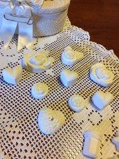 Gessetti forme fiorite per bomboniere