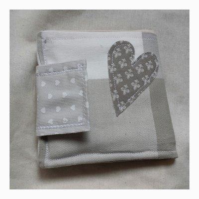 Portafoglio con portatessere in tela di cotone