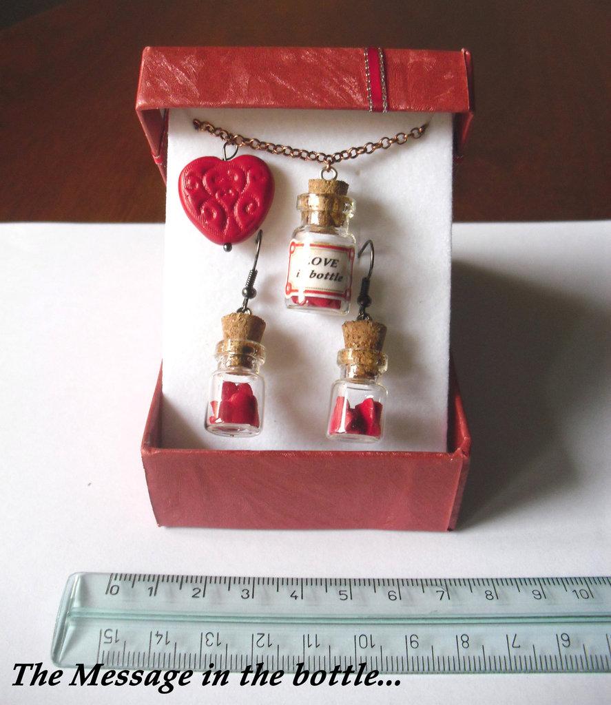 "Parure ""Love in bottle"" - Amore in bottiglia"