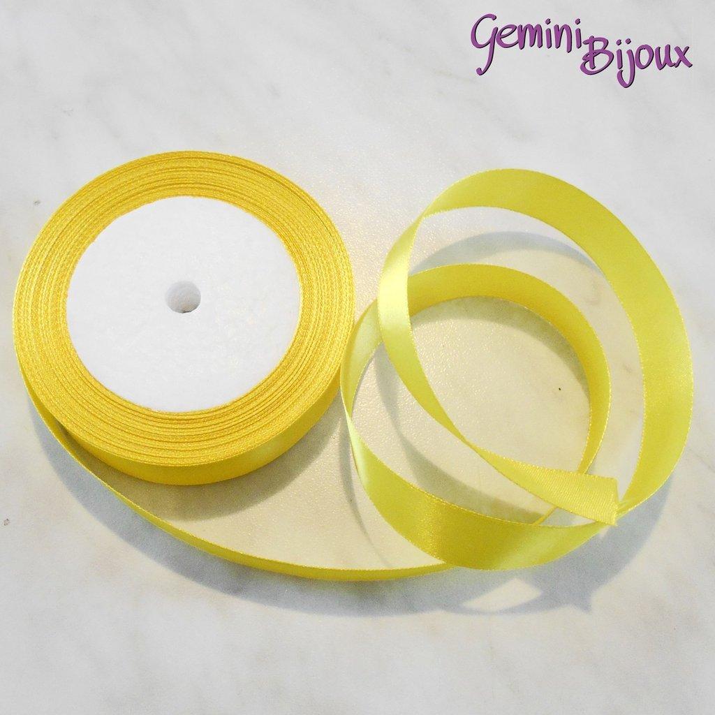 Lotto 1 mt. nastro di raso 20mm giallo