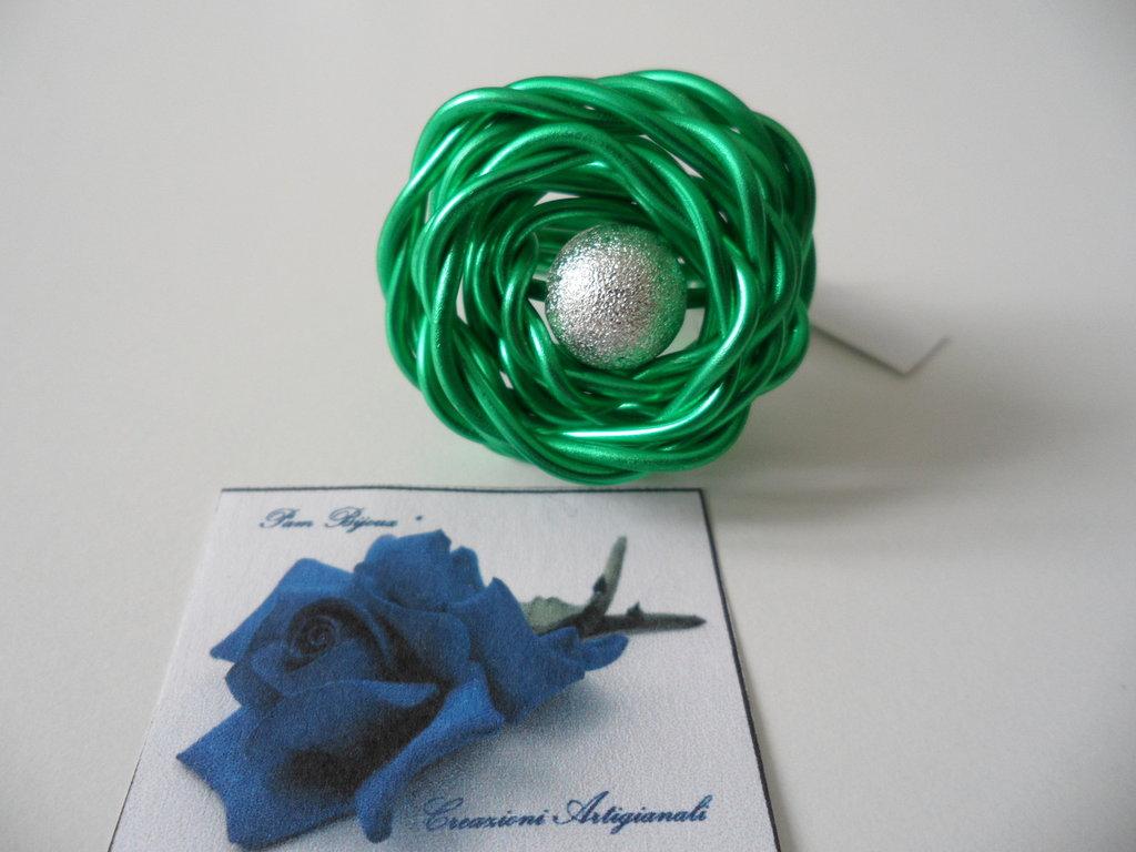 Anello Wire Verde