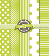 Digital Paper Green Apple - scrapbooking
