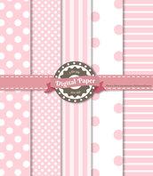 Digital Paper Love Pink - Scrapbooking