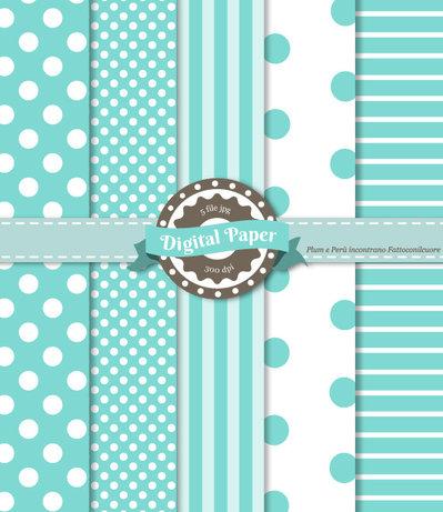 Digital Paper Blue Tiffany - Scrapbooking
