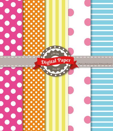 Digital Paper Carnival - Scrapbooking