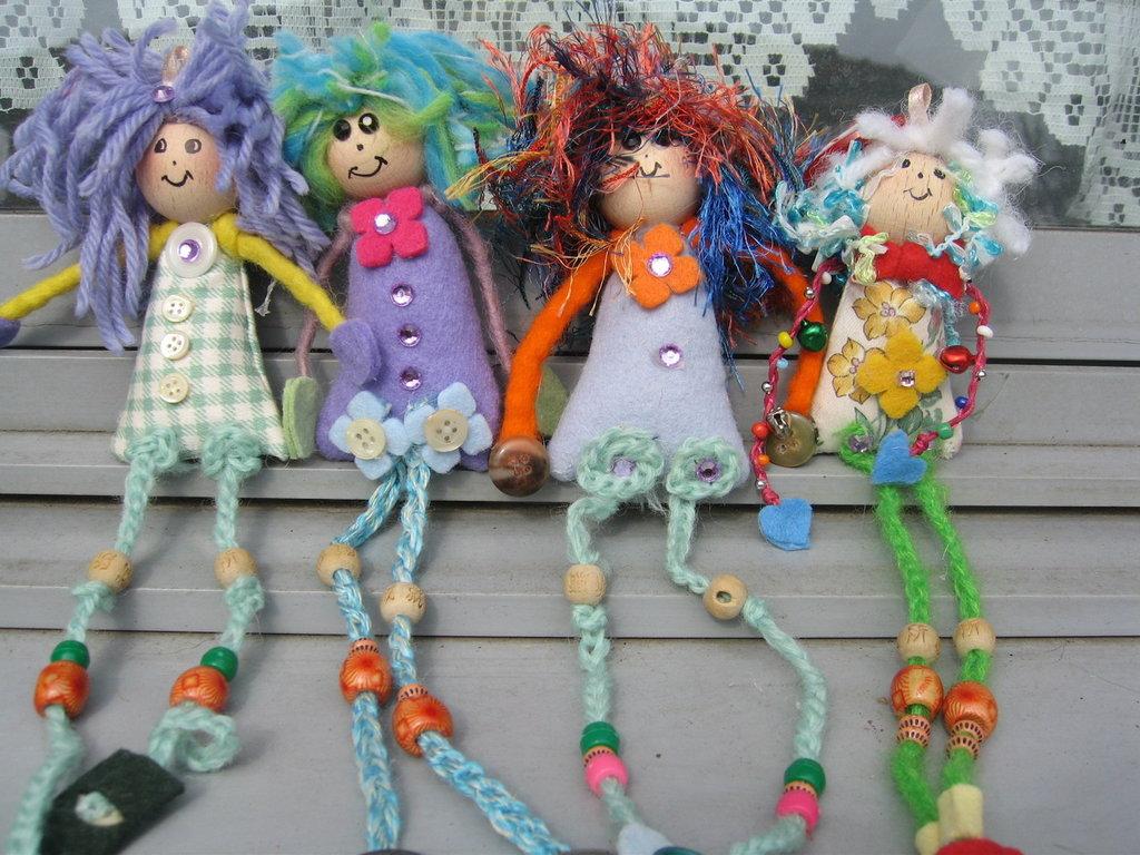Bamboline scacciapensieri in stoffa e feltro