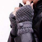 Guanti in lana senza dita