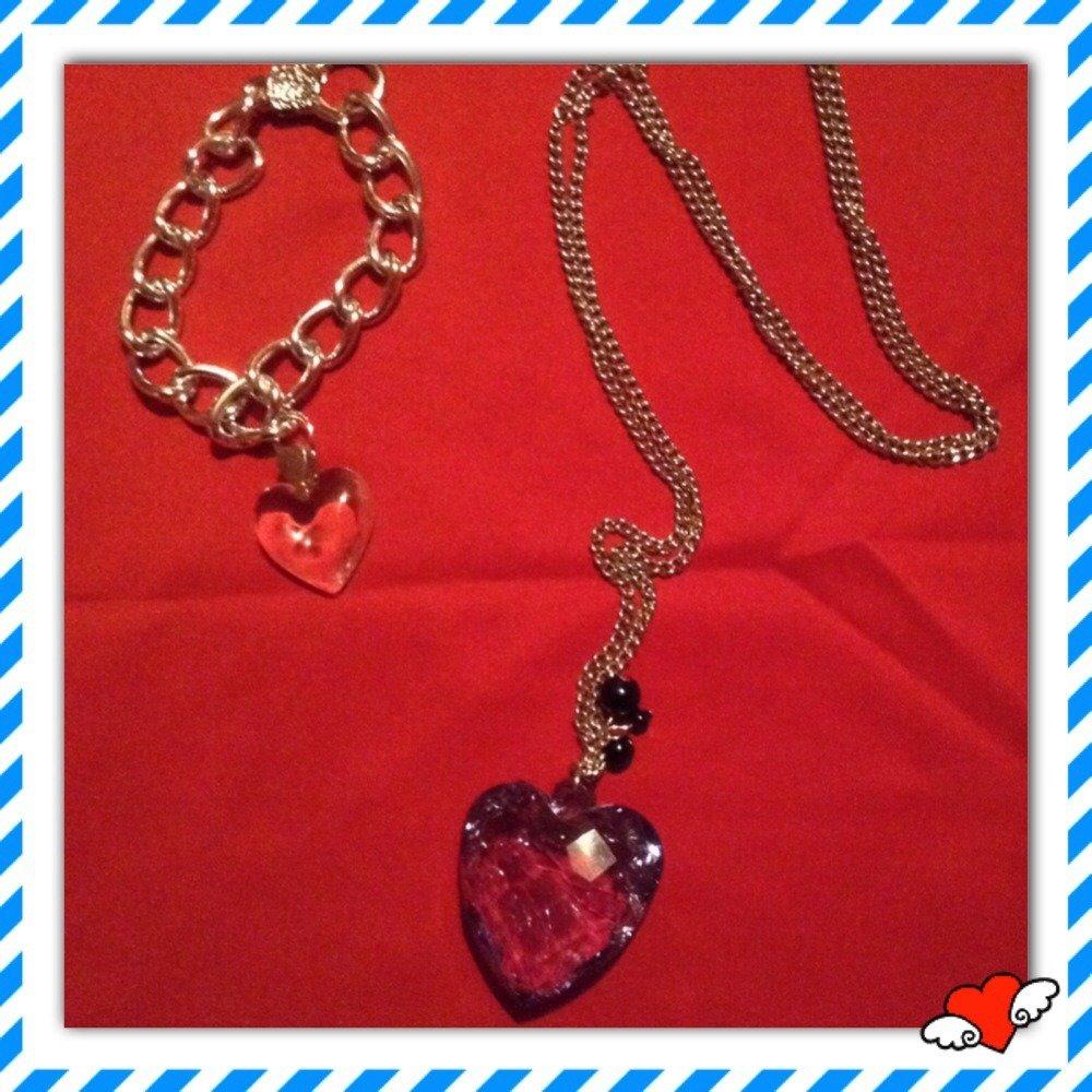 Collana e bracciale San Valentino