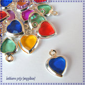 24 Cuoricini Charms (mix color)