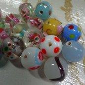 16 Perline in Vetro
