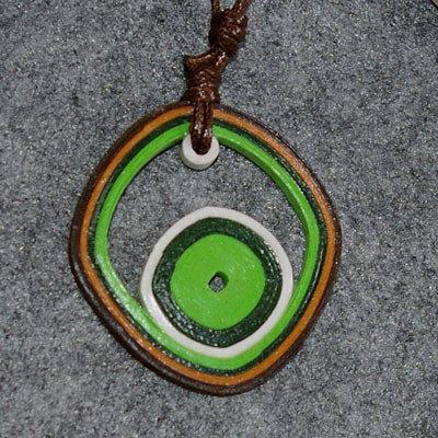 Orecchini e collana rombo verdi