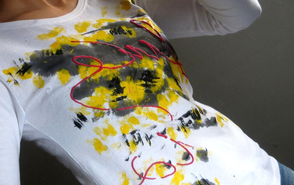 T-Shirts Dipinta interamente a mano