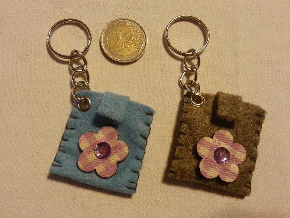 Portachiavi portamoneta o gettone x carrello della spesa fiore fiorellino flower