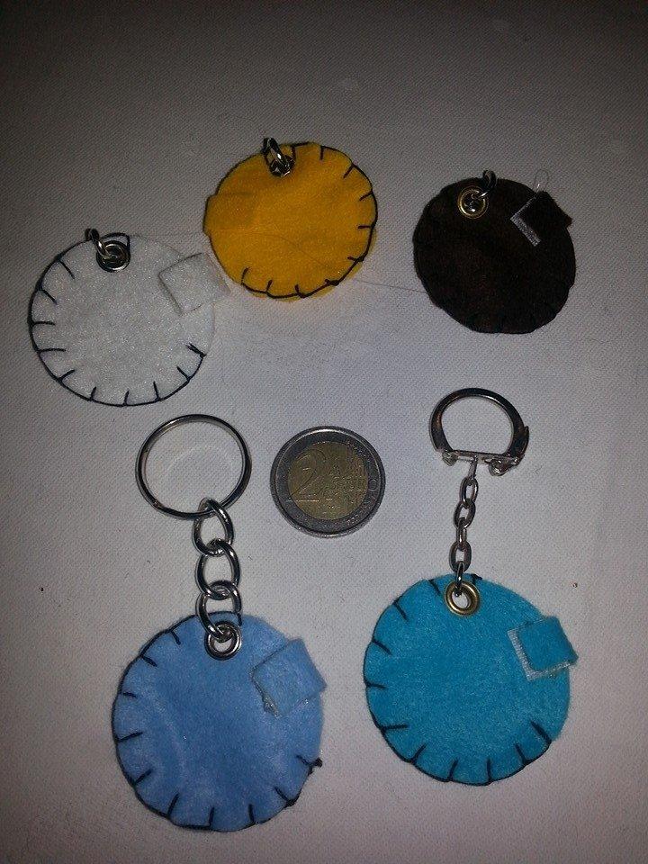 Portachiavi portamoneta o gettone x carrello della spesa semplici colorati