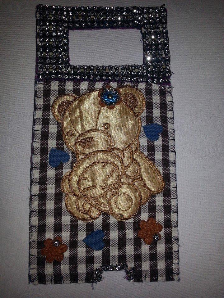 Supporto quadretti orso per caricabatterie da muro per cellulare smartphone